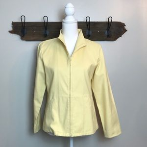 Eileen Fisher Jacket Zippered Front Butter Yellow